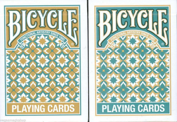 Madison Bicycle Playing Cards Turquoise & Gold:PlayingCardDecks.com