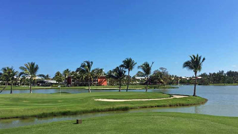 Barcelo Lakes offers lots of holes with water in play