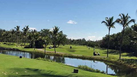 Barcelo Lakes view from teebox