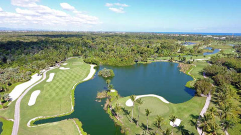 Barcelo Lakes golf aerial view