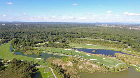 Aerial shot of front nine at Barcelo Lakes