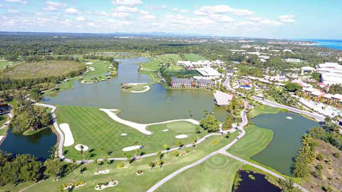 Aerial view of back nine Barcelo Lakes