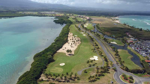 Aerial golf from Caribbean Tee Times Drone Coco Beach