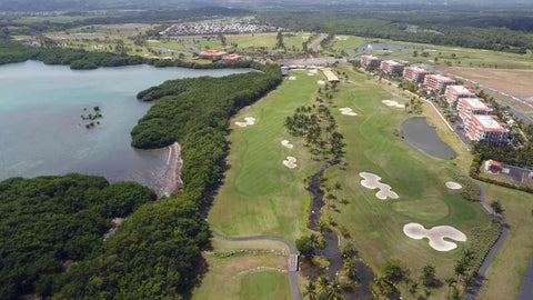 Aerial View of Coco Beach Golf Course Puerto Rico