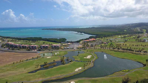 Coco Beach aerial view front nine