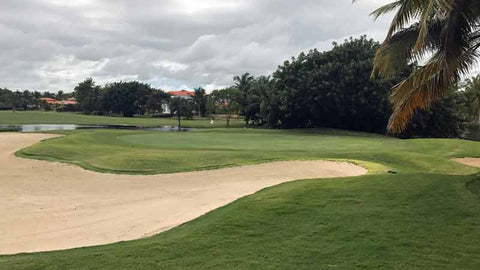 Cocotal Golf has many sand traps on the golf course