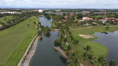 Cocotal Golf Course in Punta Cana has many lakes that come into play