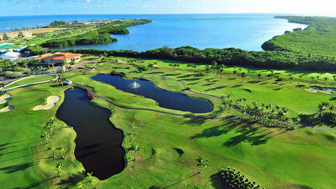 Coco Beach International Golf Course Aerial View of front nine
