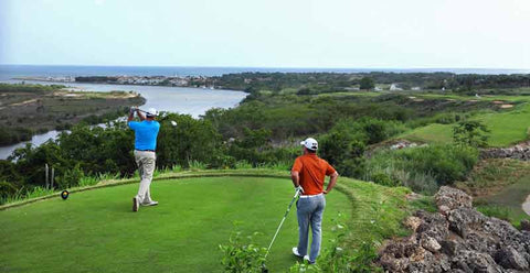 "Teeing off at Casa de Campo ""Dye Fore"" Golf Course"