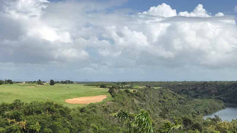 "Finishing hole at Casa de Campo ""Dye Fore"""