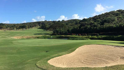 Beautiful sand traps at El Conquistador Golf Course