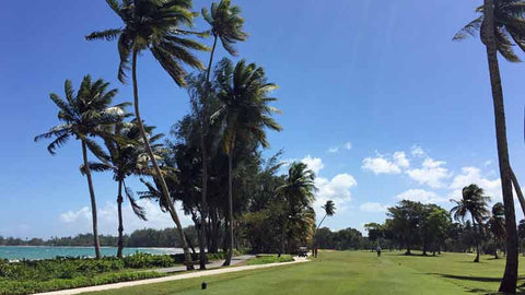 First hole at Dorado Beach East Course in Puerto Rico