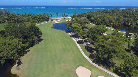 Incredible view of the ocean and green at Dorado Beach East Golf Course