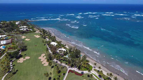 A perfect day to golf at Dorado Beach East Course. taken from Caribbean Tee Times Drone