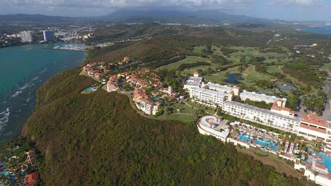 El Conquistador golf course and the Waldorf Estoria Hotel