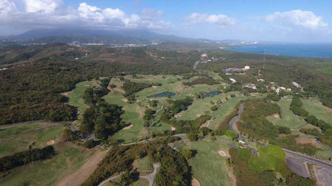 Aerial view from Caribbean Tee Times Drone El Conquistador