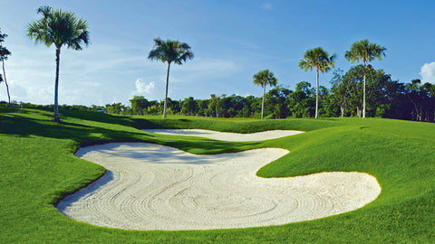 Beautiful golf conditions Grand Coral Mexico