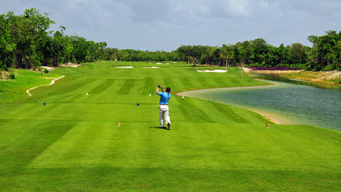Perfect golf conditions at Grand Coral Cancun Mexico
