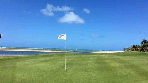 Coco Beach International Course, Signature 16th green