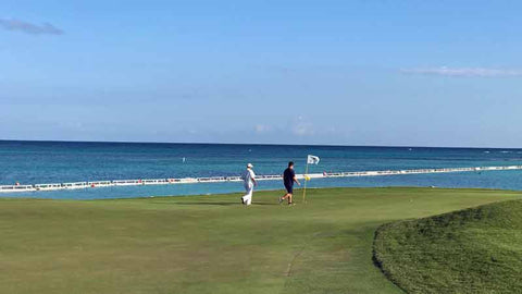 Ocean golf at La Cana Golf Course near Punta Cana