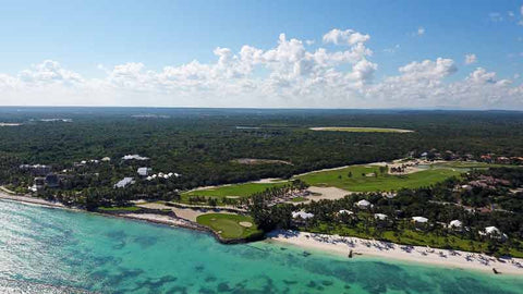 Beautiful aerial shot of La Cana Golf Course in Dominican Republic