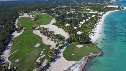 La Cana signature 5th hole on ocean