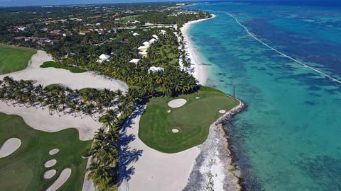The beautiful 5th green at La Cana Golf Course