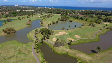 Aerial shot of Dorado Beach Pineapple Golf Course