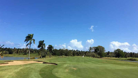 Great conditons at Dorado Beach Pineapple course near San Juan