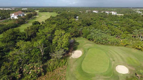 Punta Blanca aerial shot of golf course