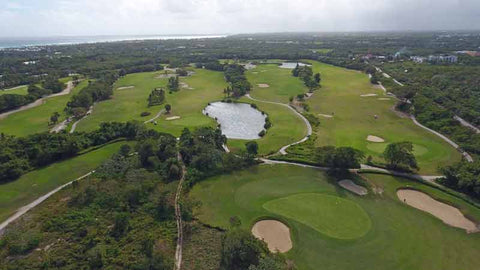 Aerial drone photo of Punta Blanca Golf Course