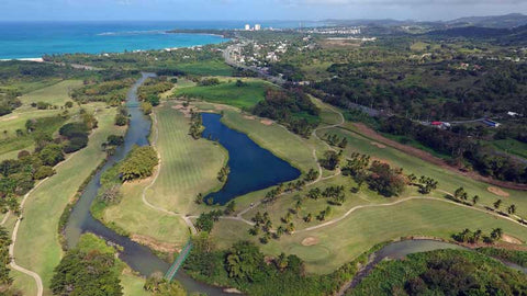 Rio Mar aerial view of River Course from Caribbean Tee Times