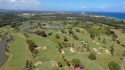 Back nine aerial view of Dorado Beach Sugarcane Course