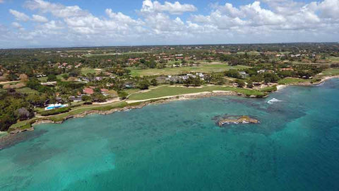 "Casa De Campo ""Teeth of the Dog"" view from drone"