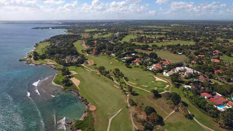 "Aerial shot of Casa de Campo ""Teeth of the Dog"""