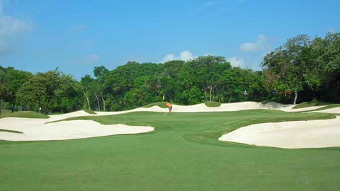 Playacar beautiful golf bunkers, Book with Caribbean Tee Times