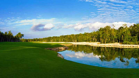 Riviera Maya golf course near Cancun Mexico