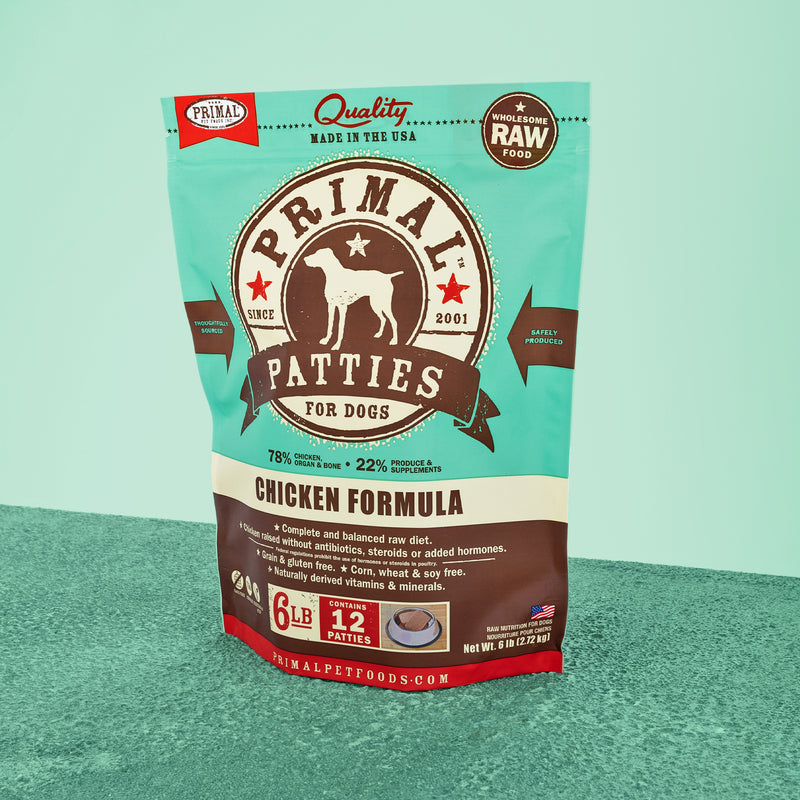 Canine Raw Frozen Patties <br> Chicken
