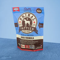 Canine Raw Frozen Patties <br> Duck