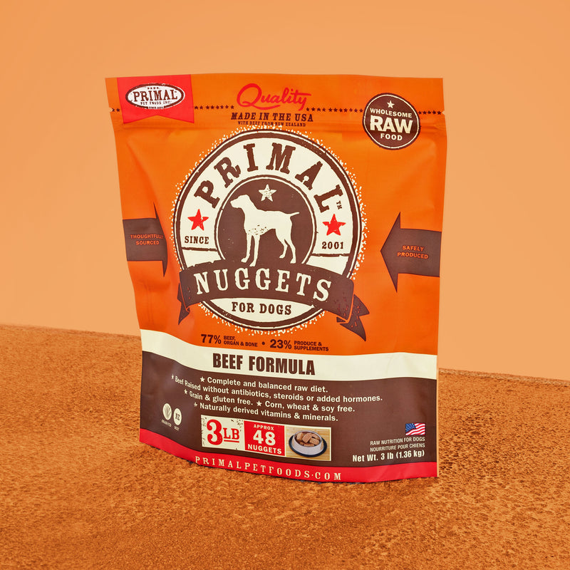 Canine Raw Frozen Nuggets <br> Beef