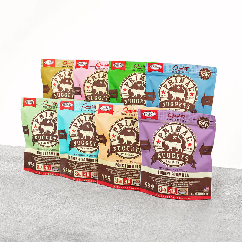 Feline Raw Frozen Nuggets <br> Select Protein