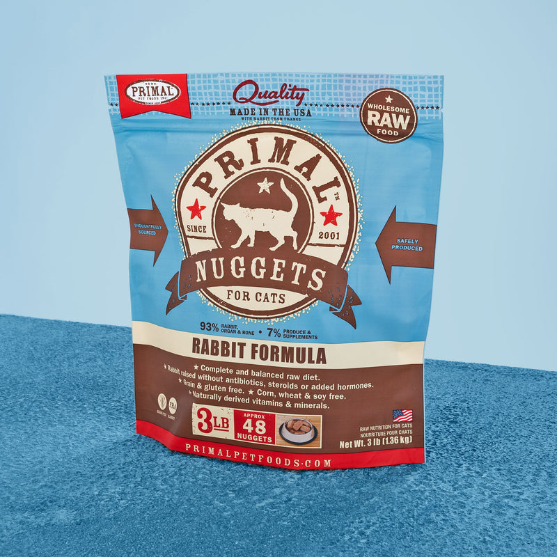 Feline Raw Frozen Nuggets <br> Rabbit