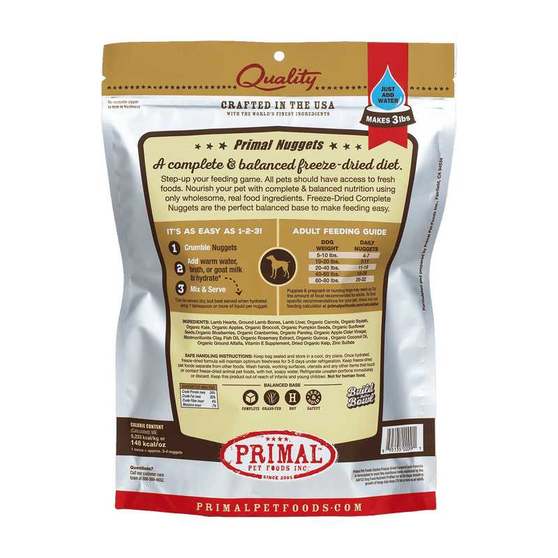 Canine Freeze-Dried Nuggets <br> Lamb