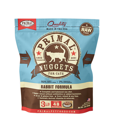 Raw Frozen Feline Rabbit Formula