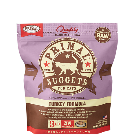 Raw Frozen Feline Turkey Formula