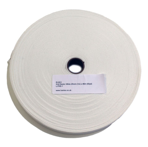 White Knit Elastic: 25mm