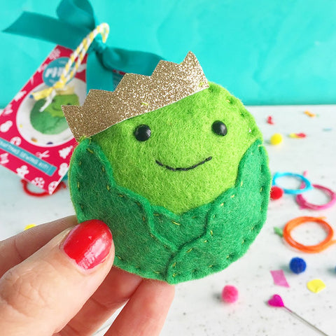 "The Make Arcade: ""King Sprout"" Christmas Bauble Sewing Kit"