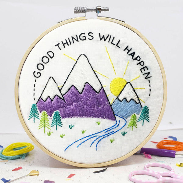The Make Arcade: Good Things Will Happen Embroidery Kit