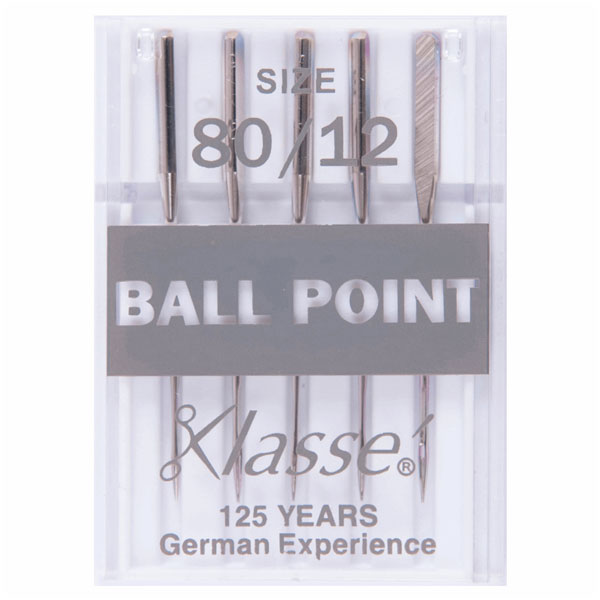 Klasse Ball Point 80/12 Machine Needles (5pcs)