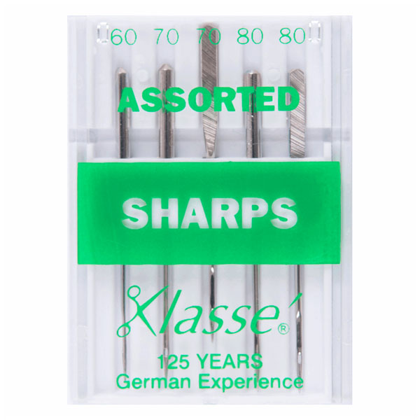 Klasse Sharps Assorted Machine Needles (5pcs)